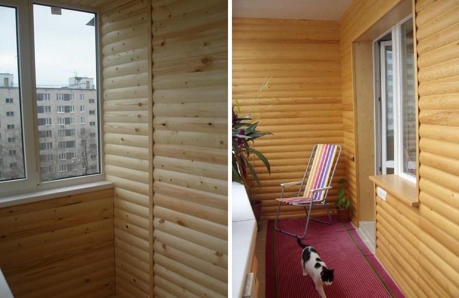 отделка помещения блок хаусом