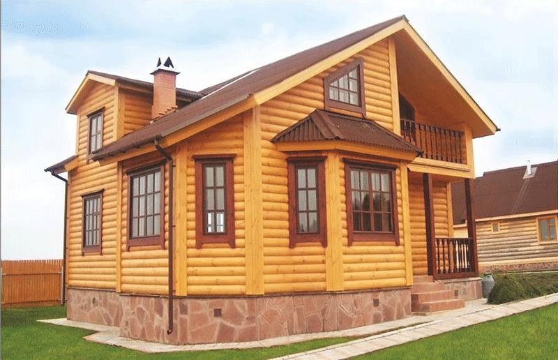 блок хаус варианты отделки фасада