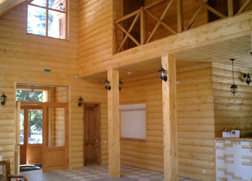 блок хаус фото внутренняя отделка
